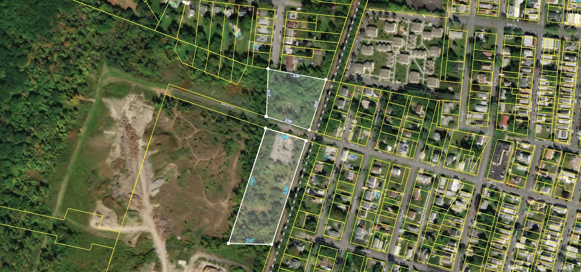 Aerial View of 1021 and 1024 Barker La, Watervliet NY 12189