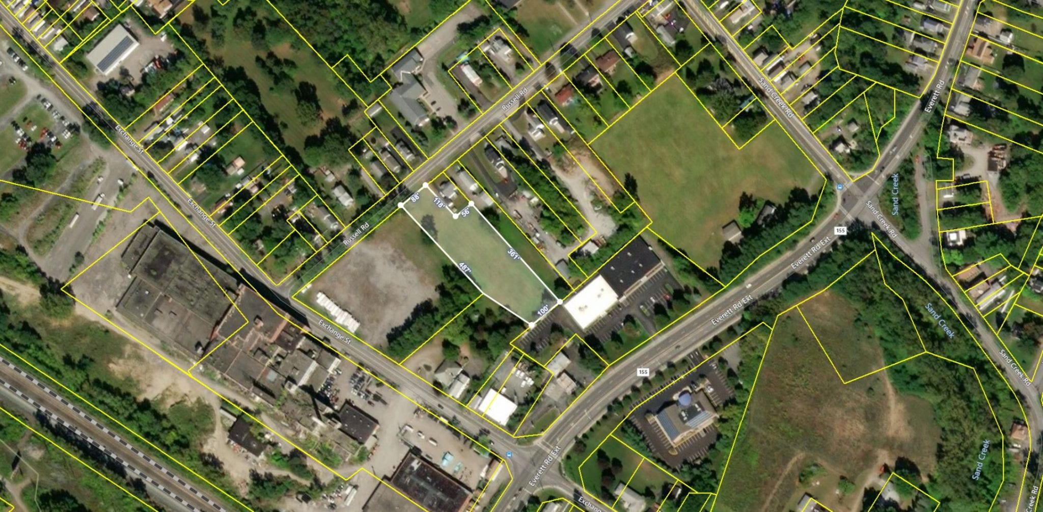 Aerial View of 19 Russell Rd, Colonie NY 12205