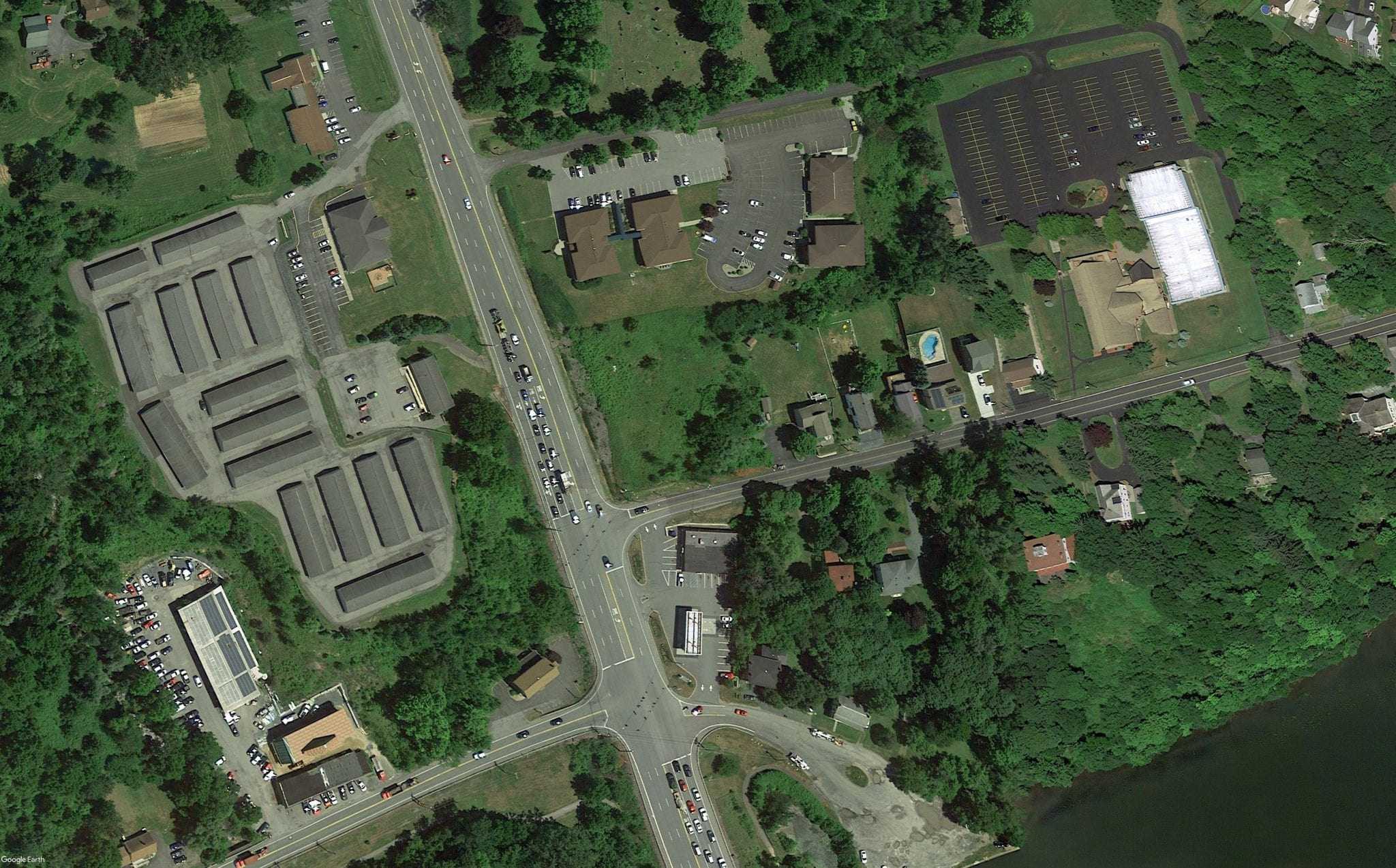 Aerial View For Sale For Lease of 0 Church Hill Road, Clifton Park NY 12065