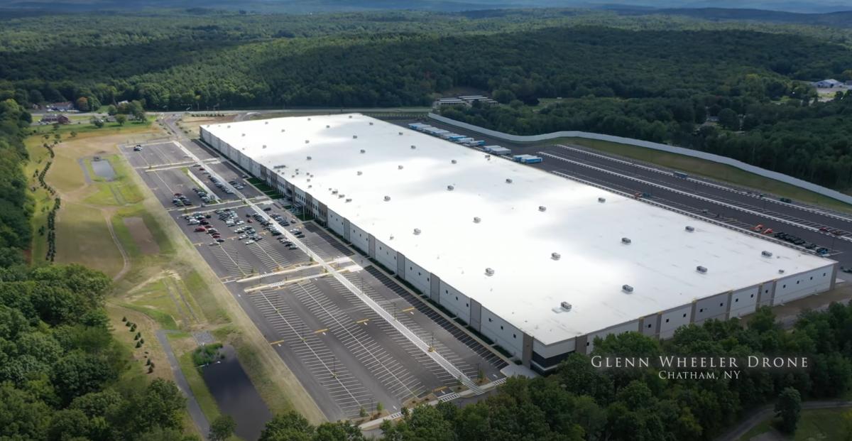 Amazon's warehouse facility in Schodack NY - Imagery by Glenn Wheeler